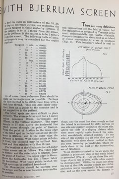 A look inside a 1937 Optical Journal and Review of Optometry article on glaucoma.