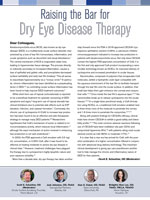 Raising the Bar for Dry Eye Disease Therapy